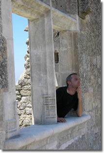 Eric Ancey au château de Lacoste du marquis de Sade