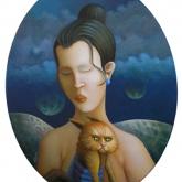 <b>Portrait aux astres morts</b> - Huile sur toile - 40 X 50 Collection privée