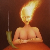 <b>Obssession</b> - Huile sur toile - 73 x 60