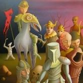 <b>La croisade du néant</b> - Huile sur toile - 92 x 73 collection privée