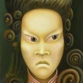 <b>Ikari-sama</b> - Huile sur toile - 27x35