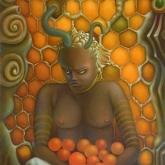 <b>La reine</b> - Huile sur toile - 65x46