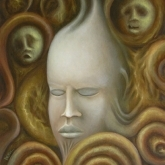 <b>Le silence</b> - Huile sur toile - 46x38