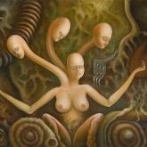 <b>Scylla en rêvant</b> - Huile sur toile - 61x50