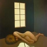 <b>La recluse</b> - Huile sur toile - 73x60