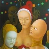 <b>L'invité surprise</b> - Huile sur toile - 65x50